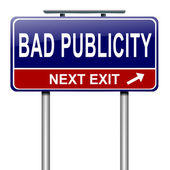 Bad publicity concept. — Stock Photo