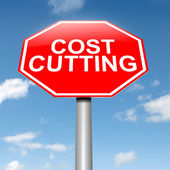 Cost cutting concept. — Stock Photo