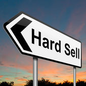 Hard sell concept. — Stock Photo
