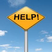 Help concept. — Stock Photo