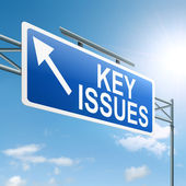 Key issues concept. — Stock Photo