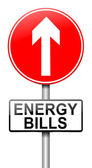 Energy bills concept. — Stock Photo