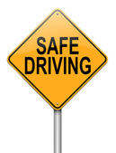 Safe driving concept. — Stock Photo