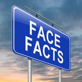 Encare os fatos. — Foto Stock