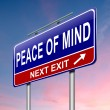 Peace of mind. - Stock Photo