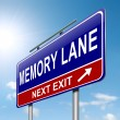 Royalty-Free Stock Photo: Memory lane concept.