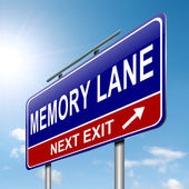 Memory lane concept. — Stock Photo