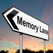 Concetto di corsia di memoria. — Foto Stock
