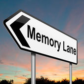 Memory lane concept. — Foto Stock