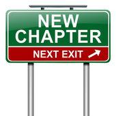 Nuevo concepto de capítulo. — Foto de Stock