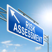 Risk assessment-konzept. — Stockfoto