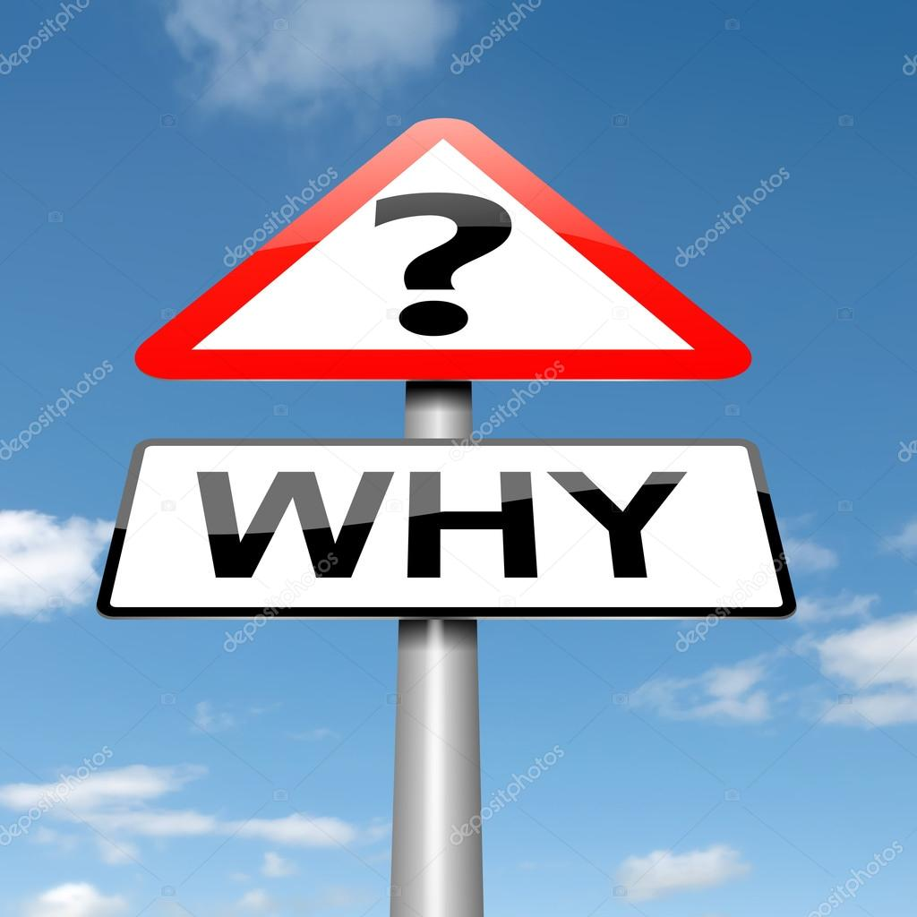 Illustration depicting a roadsign with a why concept. Sky background.  Stock Photo #14154243