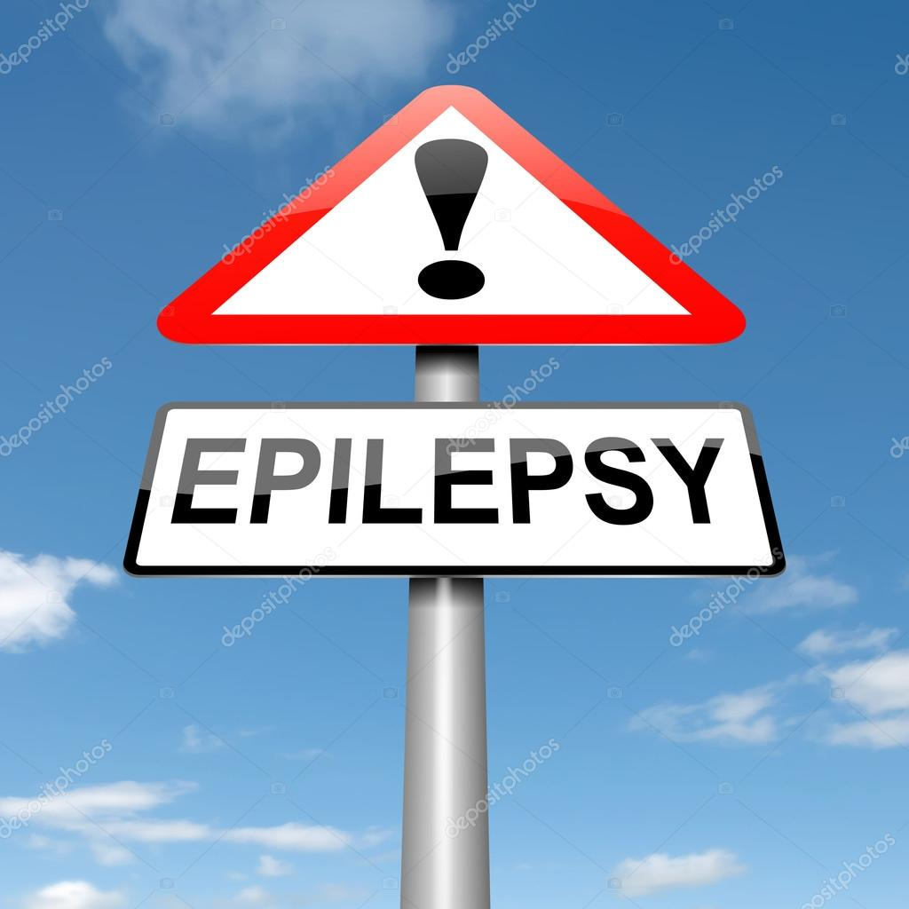 Illustration depicting a roadsign with an epilepsy concept. Sky background. — Stock Photo #14154351