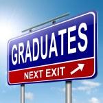 Graduates concept. — Stock Photo