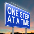 One step at a time. — Stock Photo