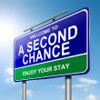 Stock Photo: Second chance concept.