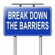 Stock Photo: Break down barriers.