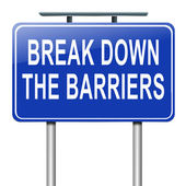 Break down the barriers. — Stock Photo
