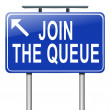 Join the queue. — Stock Photo