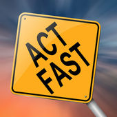 Act fast. — Stock Photo