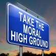 Moral high ground. — Stock Photo