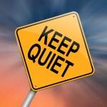 Постер, плакат: Keep quiet concept