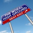Stock Photo: Moral high ground.