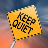 Keep quiet concept. — Stock Photo