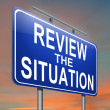 Review the situation. - Stock Photo
