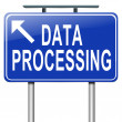 Data processing. — Stock Photo