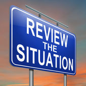 Review the situation. — Stock Photo