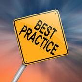 Best practice concept. — Stock Photo