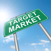 Target market. — Stock Photo