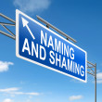 Naming and shaming concept. — Stock Photo