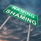 Naming en shaming concept. — Stockfoto