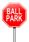 Ball park concept. — Stock Photo