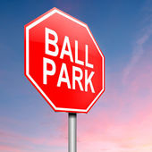 Koncepcja parku piłkę. — Zdjęcie stockowe