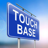 Touch base concept. — Stock Photo