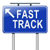 Fast track concept. — Stock Photo