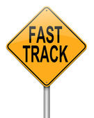 Fast track concept. — Stock Photo