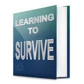 Learn to survive concept. — Stock Photo