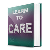 Learn to care concept. — Stock Photo