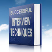 Interview techniques concept. — Stock Photo