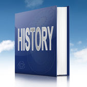 History text book. — Stock Photo