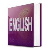 Englische text-buch. — Stockfoto