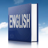 English text book. — Zdjęcie stockowe