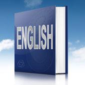 İngilizce metin kitap. — Stok fotoğraf