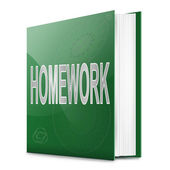 Homework book. — Foto Stock
