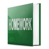Livro de lição de casa. — Foto Stock