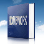 Homework book. — Stock Photo